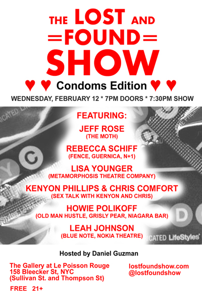 Condoms Edition, Wednesday February 12th, 2014.